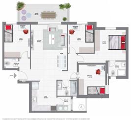 דירת 5 חדרים קומה 1