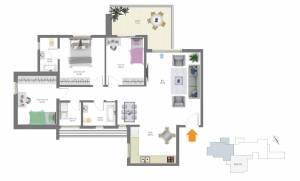 דירת 4 חדרים, קומה 3-
