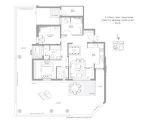 דירת גן 4 חדרים דגם B GAN - סביוני חריש