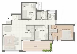 דירת 4 חדרים דגם B