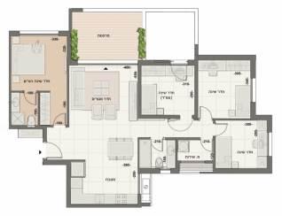 דירת 5 חדרים דגם A