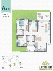 דונה בחריש 2 | דירת גן 4 חדרים דגם A4-G