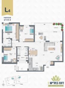 דונה בחריש 2 | פנטהאוז 4 חדרים דגם L4