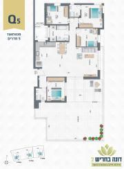דונה בחריש 2 | פנטהאוז 5 חדרים דגם Q5