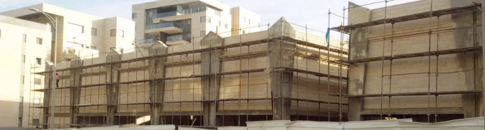 התקדמות הבנייה במרכז 407, ינואר 2018