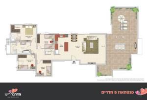 פנטהאוז 5 חדרים | הדר בחריש