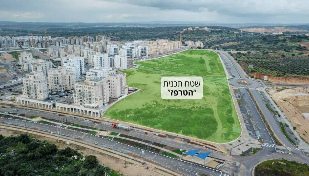 שטח תכנית הטרפז בחריש להקמת מגדלים