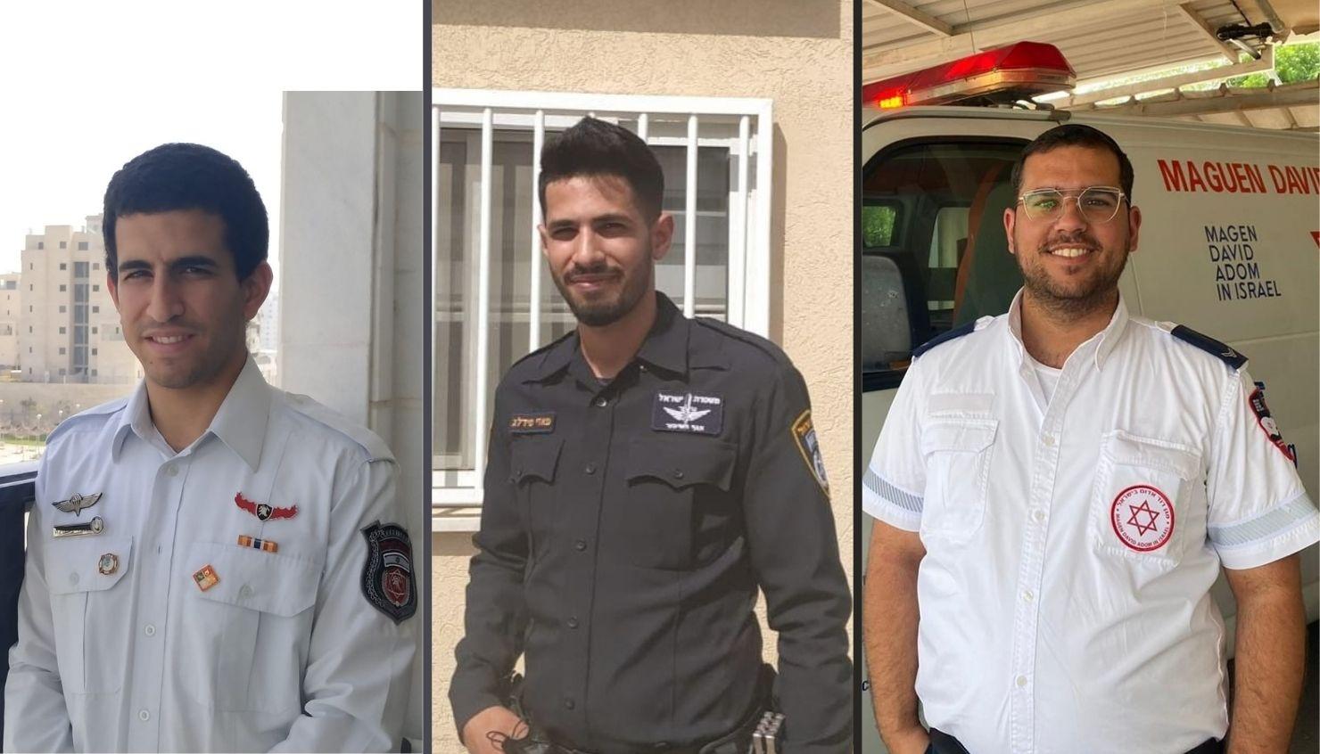 מימין: אלישע תורג'מן, פאדי כבהה ואלעד בוסקילה