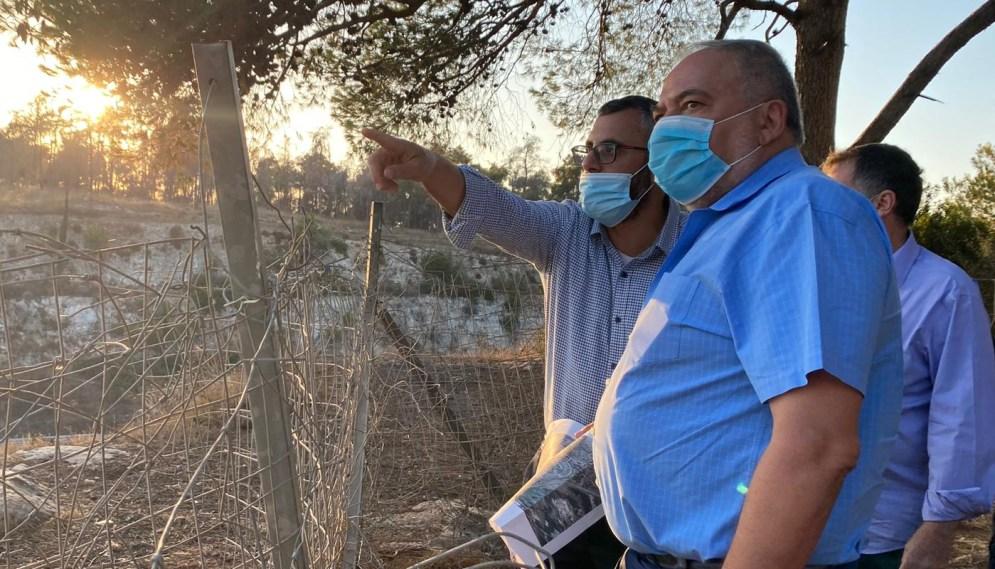שר האוצר אביגדור ליברמן וראש העיר יצחק קשת בסיור בחריש