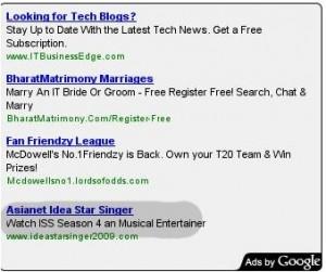 Idea star singer - Google ad