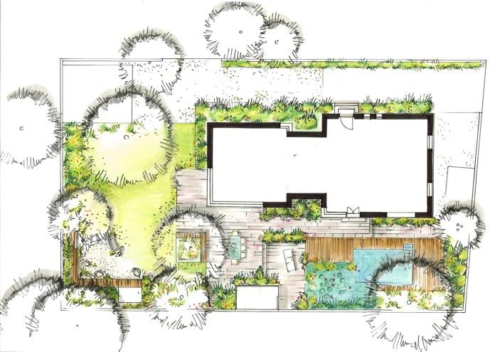 Grundriss des modernen Stadtgartens