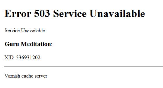"""Résultat de recherche d'images pour """"Error 503 Service Indisponible"""""""