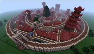 Minecraft picture fortified city
