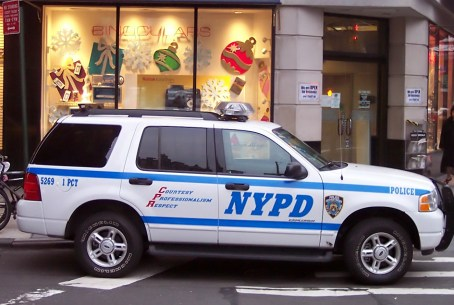 A NYPD Ford Explorer Special Service Vehicle.