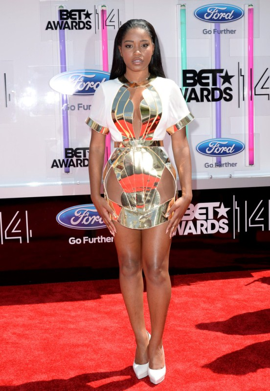keke-palmer-bet-awards-2014-alon-livne-dress-saint-laurent-pumps-jlani-jewels