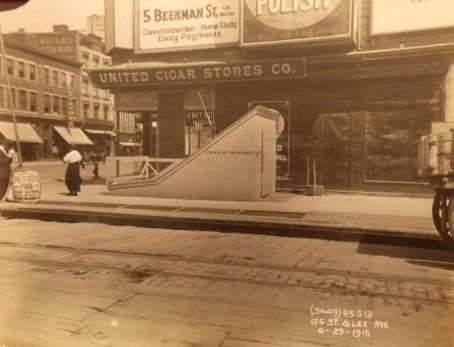 1915 PHOTO 125 & Lexington HARLEM SUBWAY NYC New York City