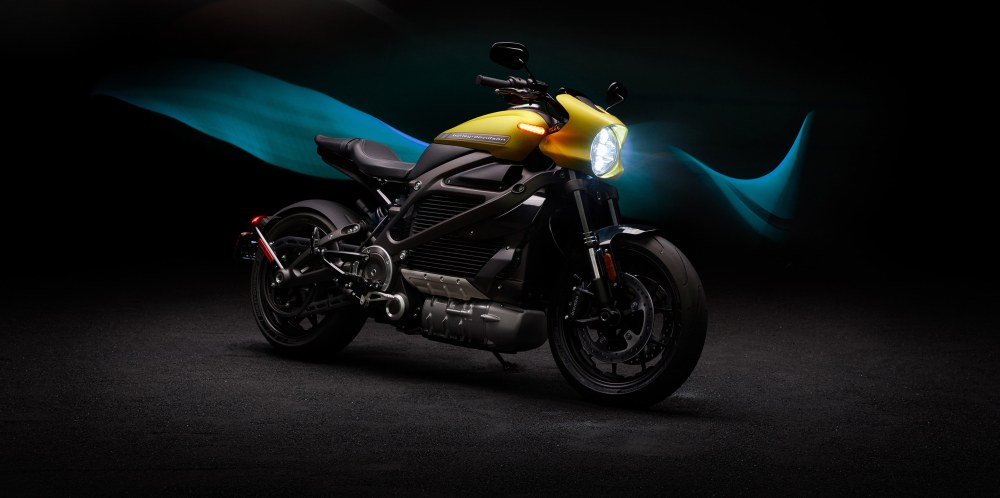 medium resolution of parked h d livewire electric motorcycle