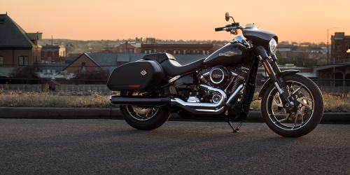 small resolution of 2019 sport glide motorcycle parked in front of skyline