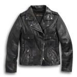 Women S Wild Distressed Leather Biker Jacket 98017 18vw Harley Davidson Usa