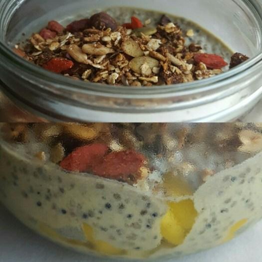 Overnight quinoa med matcha