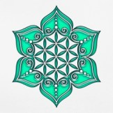 Blume-des-Lebens---Lotus---Herz-Chakra---gruen---Symbol-der-Vollkommenheit-und-Harmonie-T-Shirts