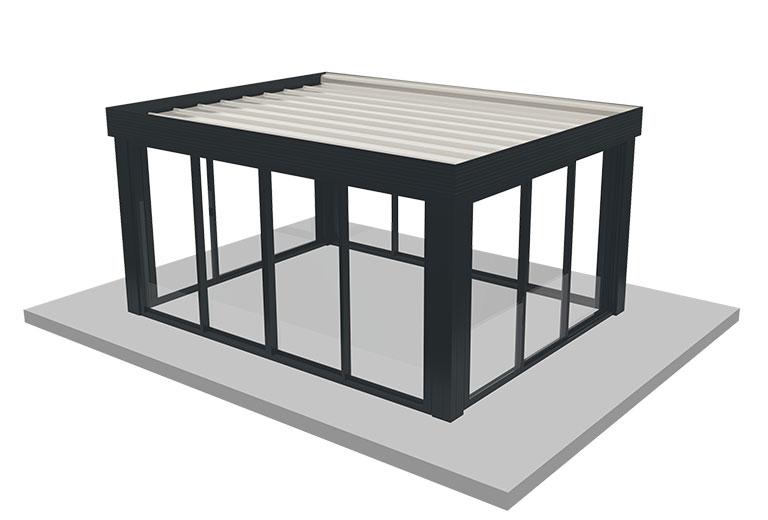 fermer sa terrasse pergola aluminium
