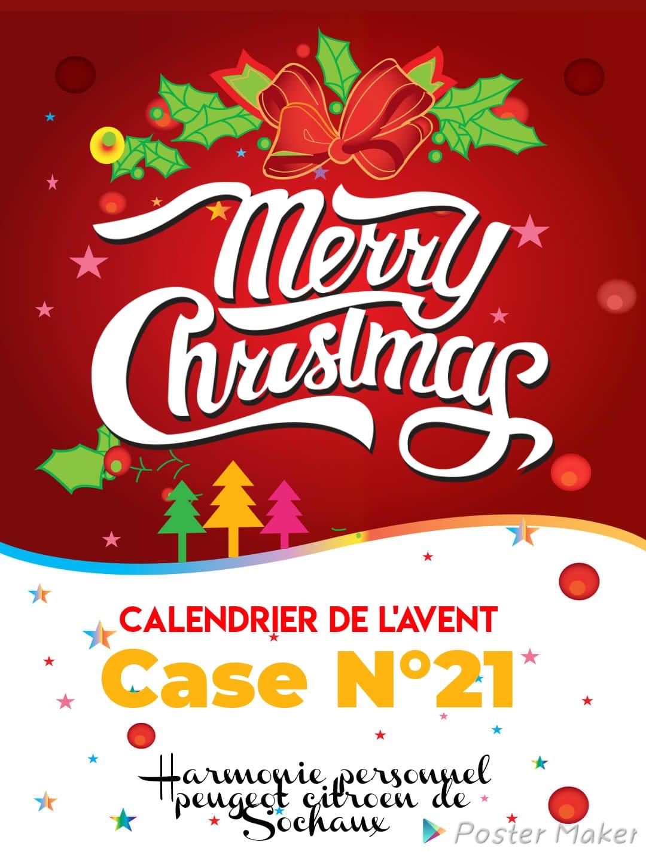 Case N°21 – Calendrier de l'Avent 2020