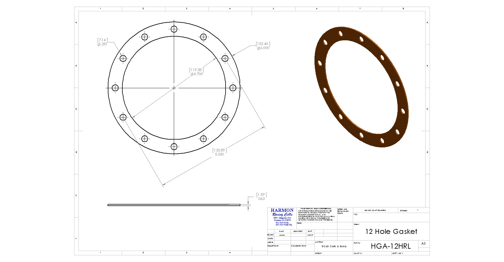 12 Hole Round Gasket Replacement Fill Plate Gasket Replacement