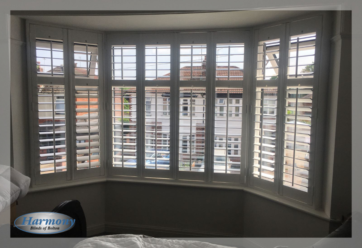 Harmony Blinds Ltd Made To Measure Shutters In A Bedroom