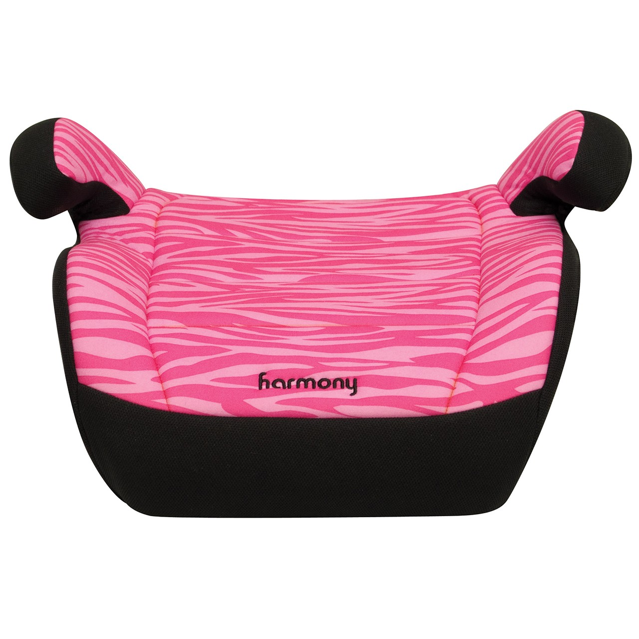 Youth Booster Car Seat  Pink Zebra  No Back Booster