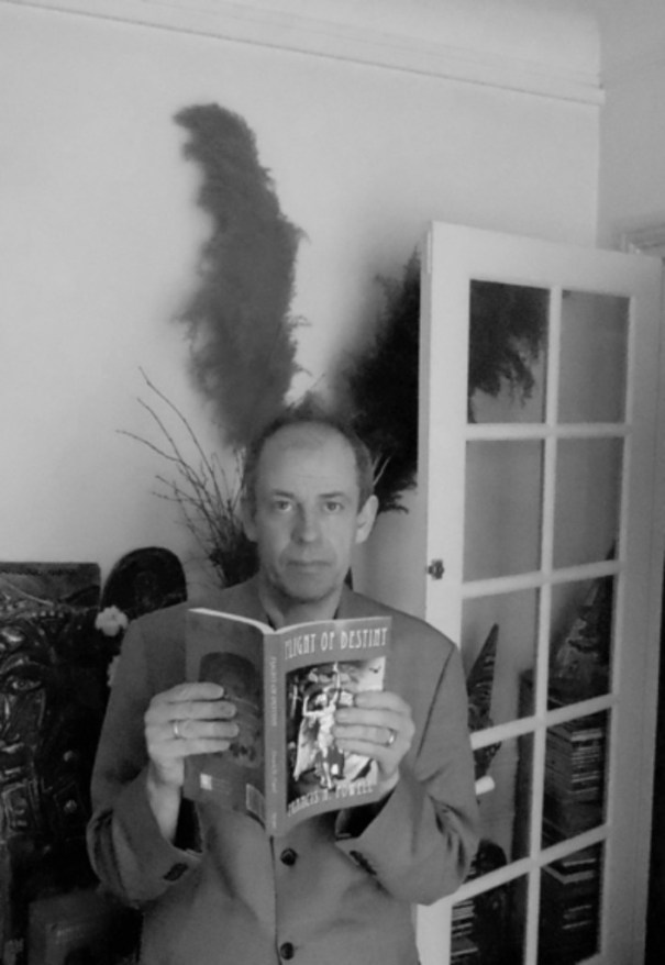 Author with book