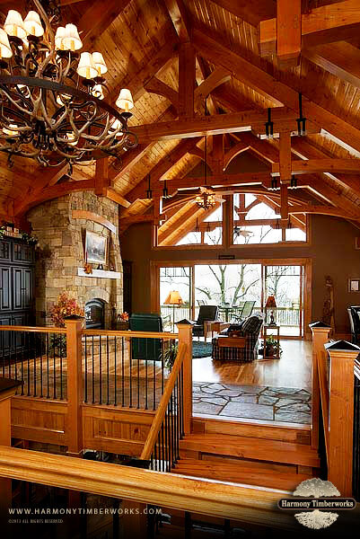 King Post Truss With Struts Timber Frame Harmony TW
