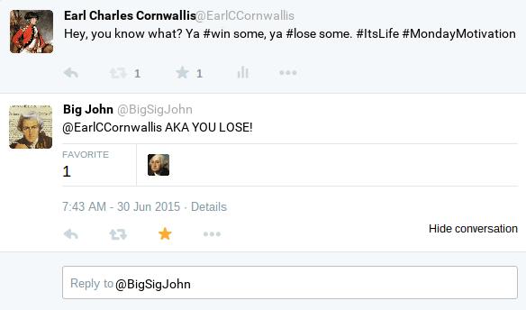 General Cornwallis Tweet