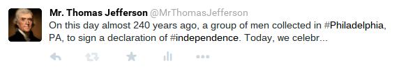 Thomas Jefferson Tweet