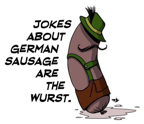 On this National Tell a Joke Day and World Bratwursthellip
