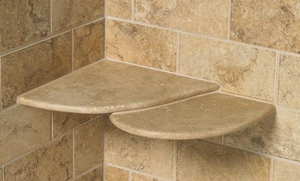 Shower shelves built In