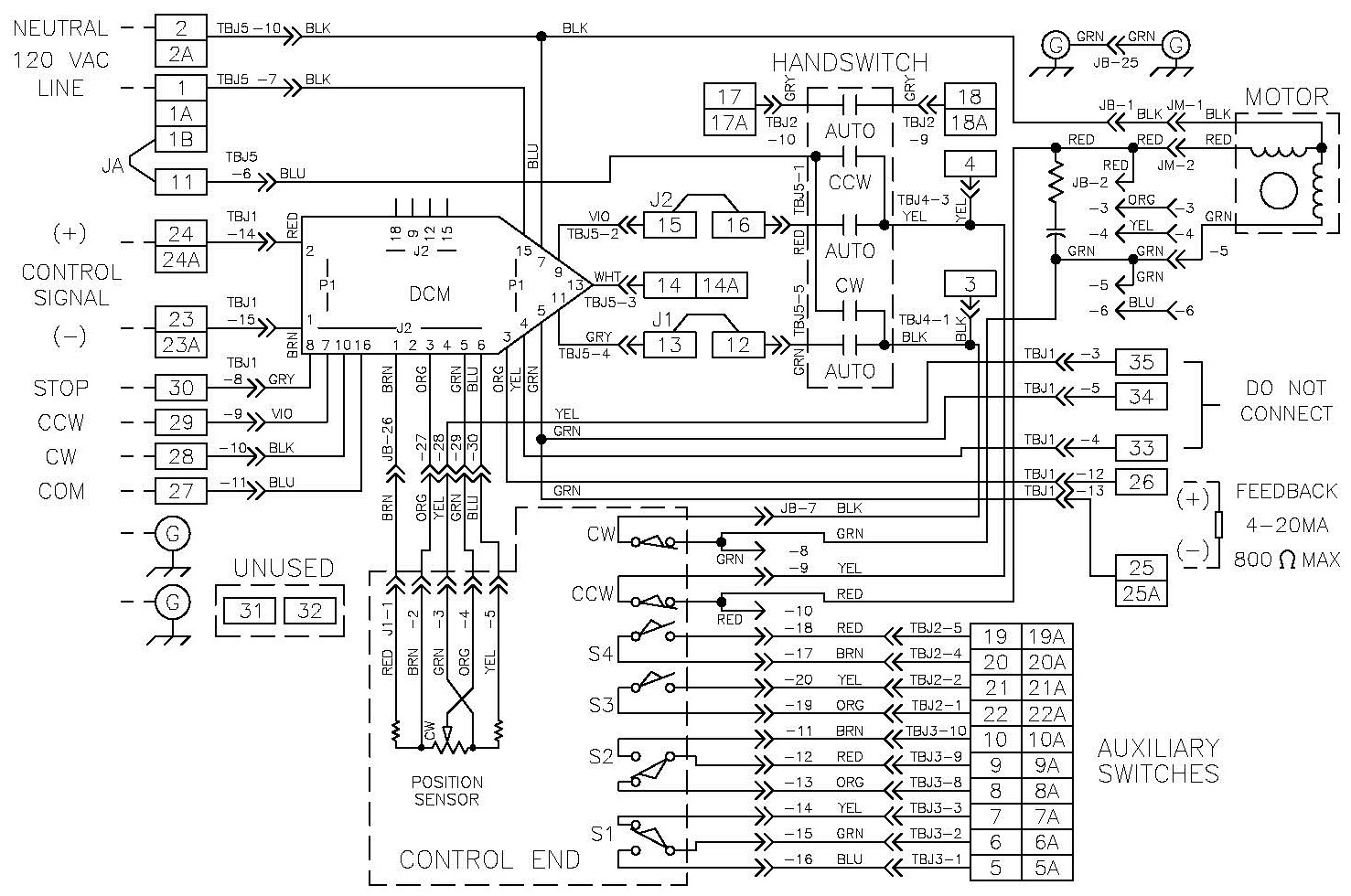 hight resolution of modulating none 120 v ac cps 4 20 ma 2 wire