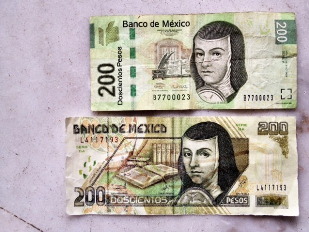 Pesos front side