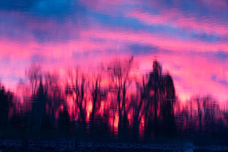 Sunset along the Sacramento River