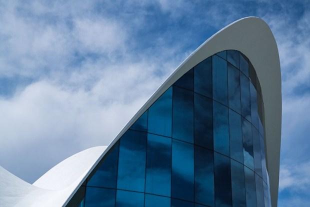 Santiago Calatrava designed Aquarium at City of Arts and Sciences Building