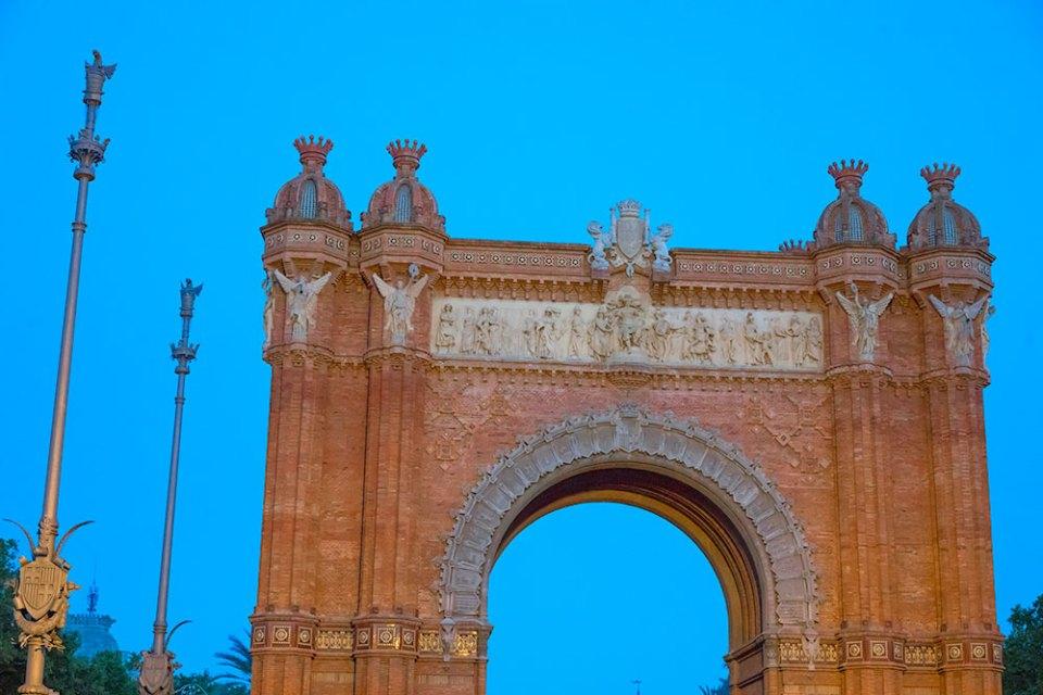 Arc de Triomf built for the 1888 Barcelona World's Fair
