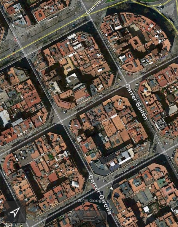 Barcelona Octagonal City Blocks