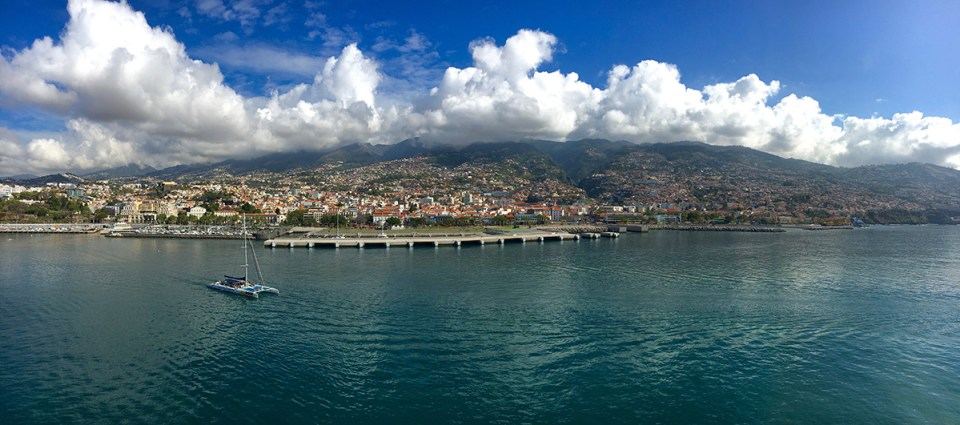 Town of Madera on the Island of Funchal Portugal