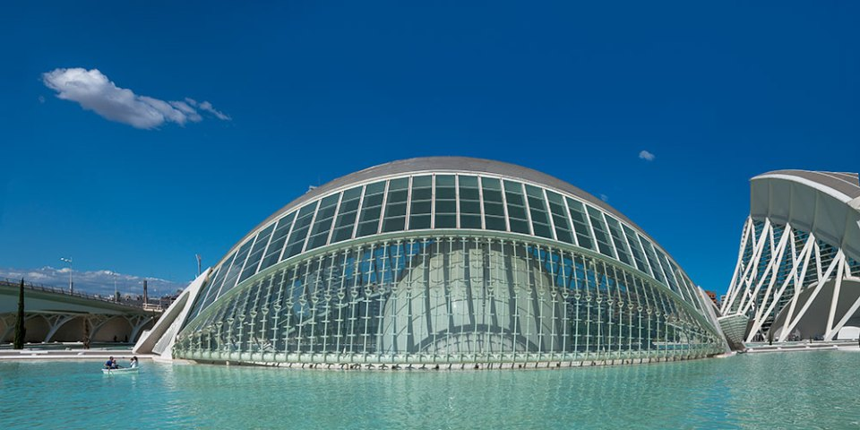 Planetarium at the City of Arts and Sciences Buildings