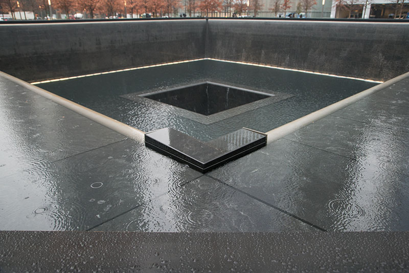 WTC Fountain in place of the original foundation footprint