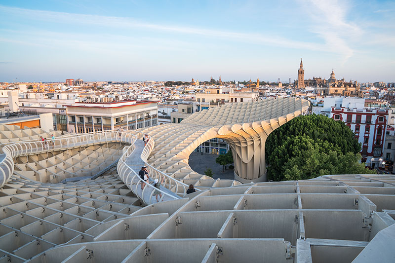View from the top of the Seville Metropol Parasol