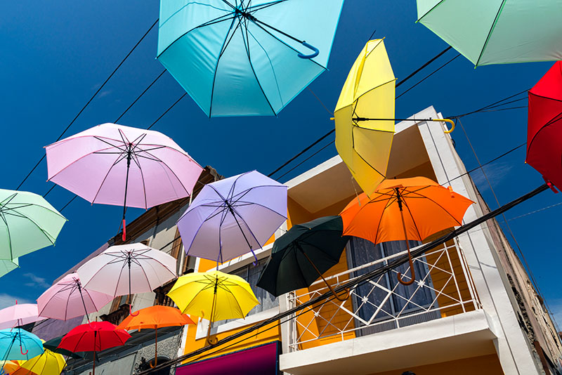 Umbrellas in Arica, Chile