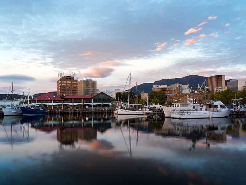 The Hobart Harbor