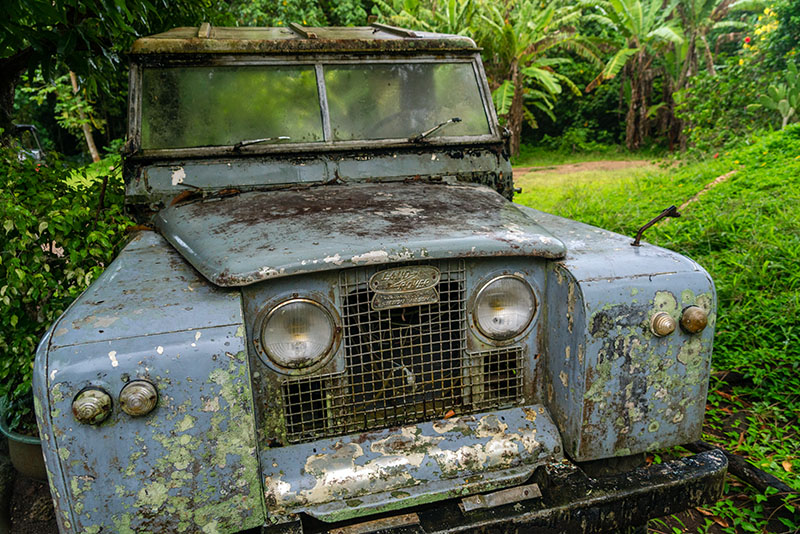 abandoned Range Rover