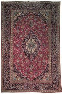 Handmade Rug 8x12 Persian Kashan Rug hand-spun wool ...